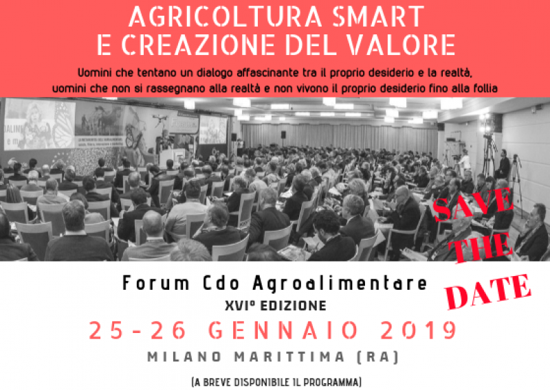SAVE THE DATE FORUM CDO AGROALIMENTARE - 25 26 GENNAIO 2019