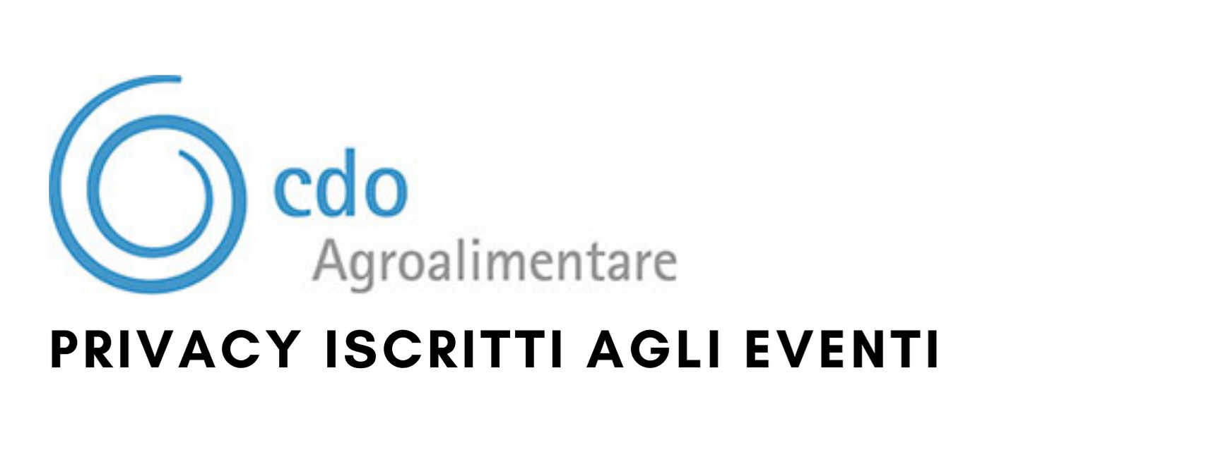 Privacy Eventi Cdo Agro