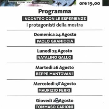 """MOSTRA CDO AGROALIMENTARE AL MEETING DI RIMINI: """"DALLE POTATURE NUOVI GERMOGLI. SEGUIRE I VOLTI DELL'ESPERIENZA."""""""