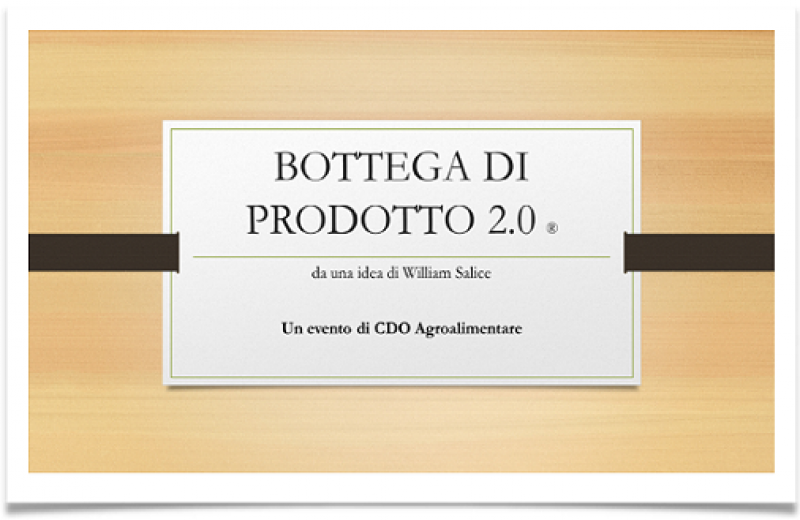 BOTTEGA DI PRODOTTO ONLINE 2020 - APERTE LE CANDIDATURE