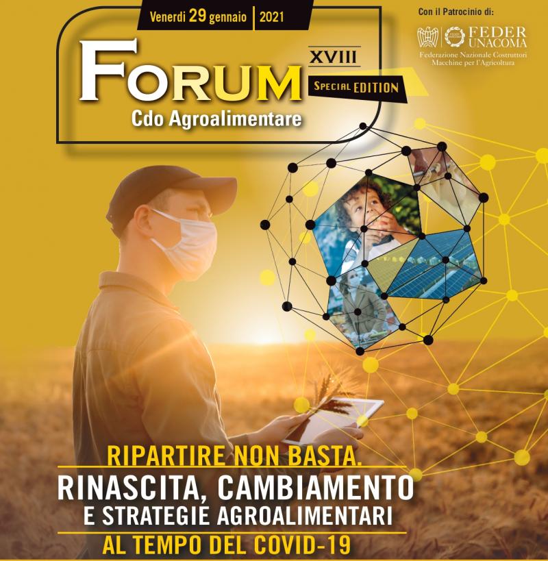 Save the Date - Forum Cdo Agroalimentare XVIII Edizione - Venerdì 29 Gennaio 2021 Special Edition Online